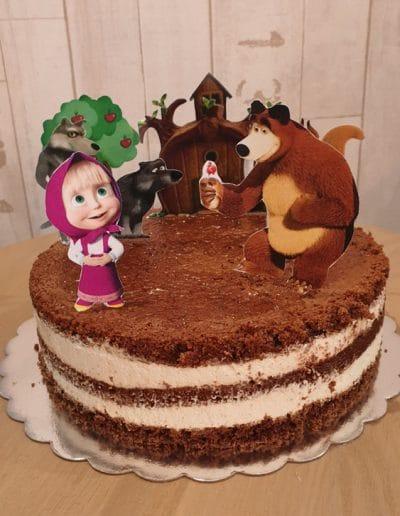 Гола торта Маща и мечока