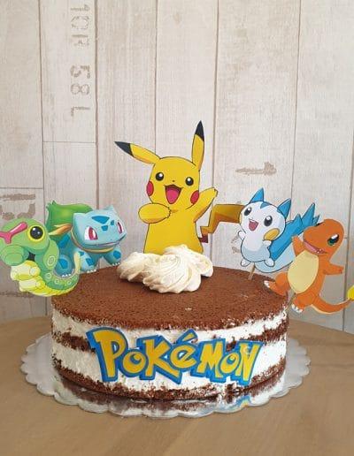 Гола торта покемон