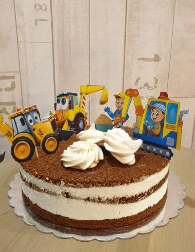 Гола торта с багери