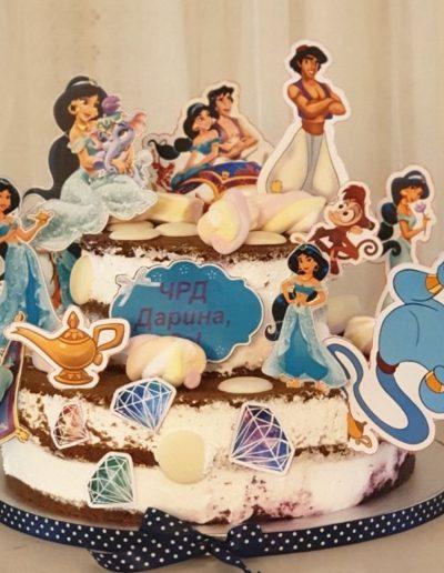 Гола торта Аладин и Жасмин